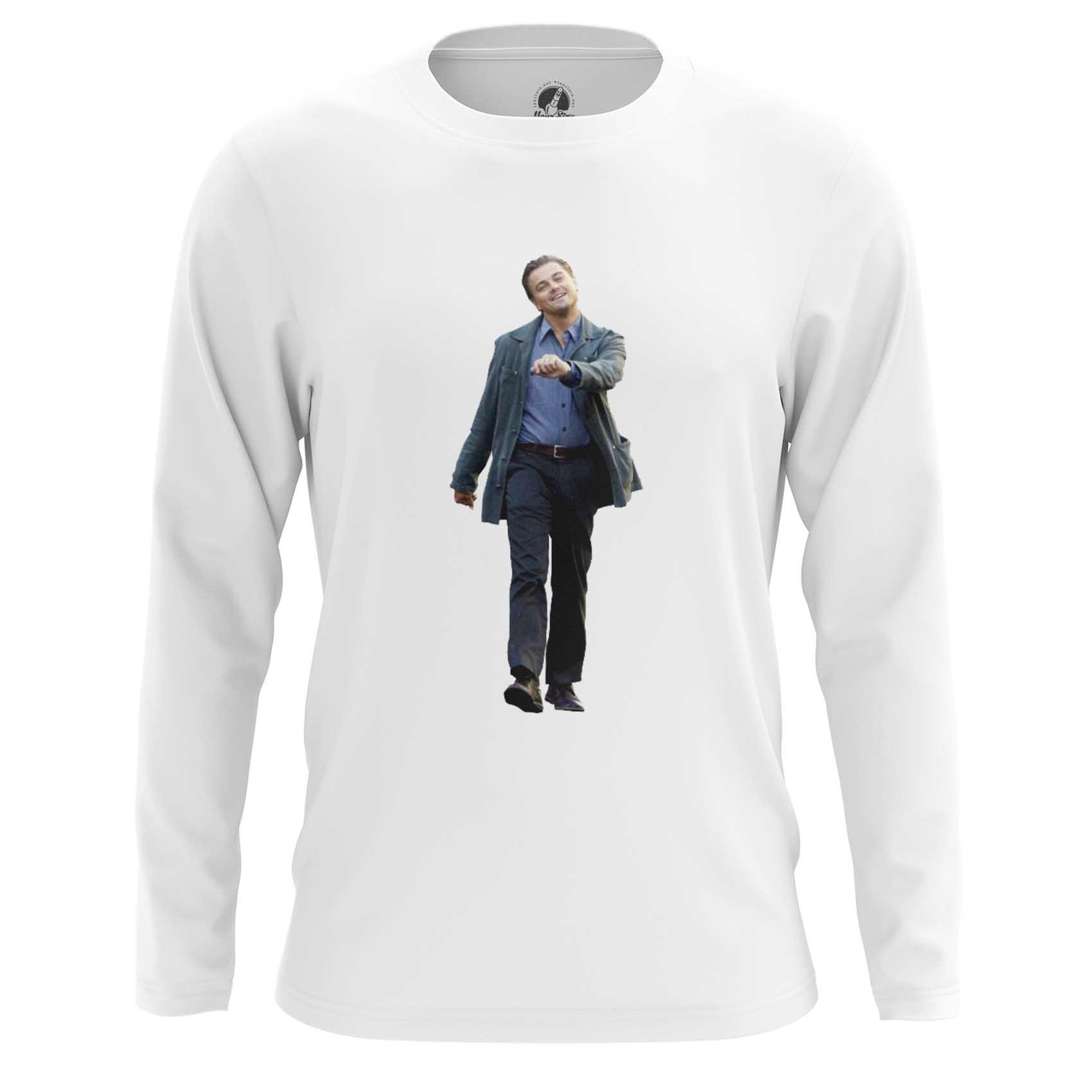 Merchandise Men'S Raglan Мем С Di Caprio Happy
