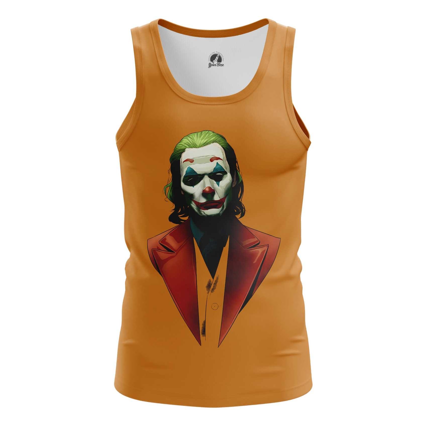 Collectibles Orange Men'S Tank Joker Movie 2019 Vest