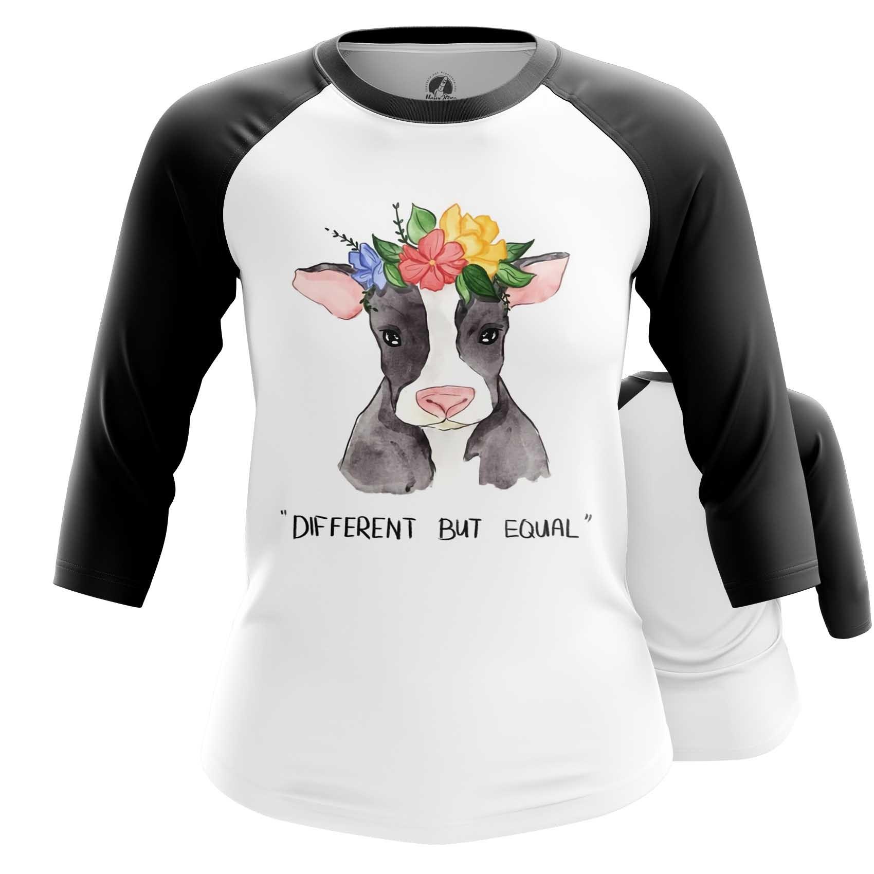 Merchandise Women'S Long Sleeve Different But Equal Vegan