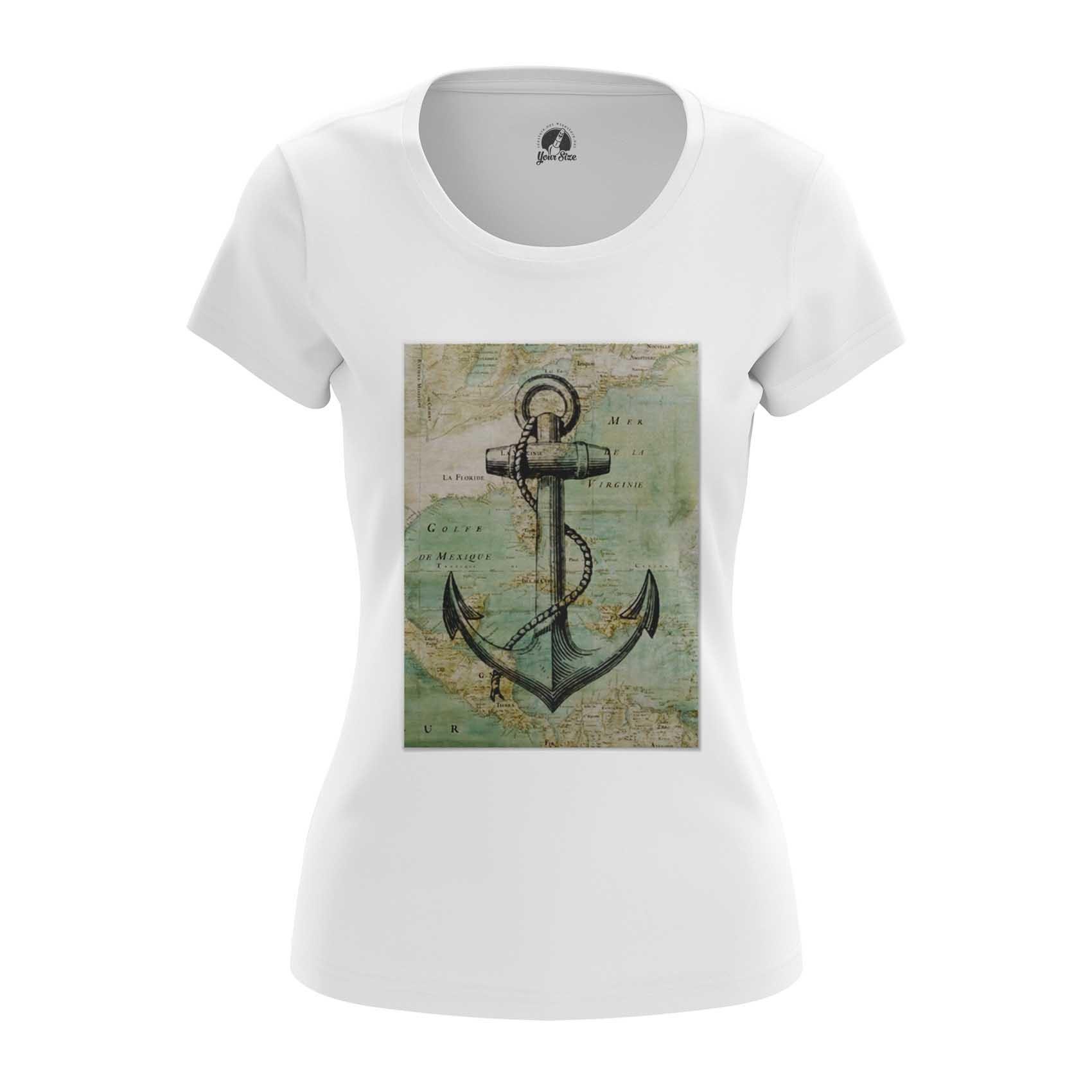 Merchandise Women'S Raglan Sea Anchor Print