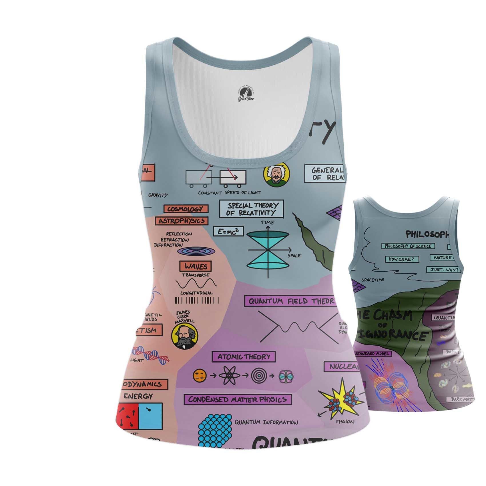 Collectibles Women'S Tank Physics Science Print Vest