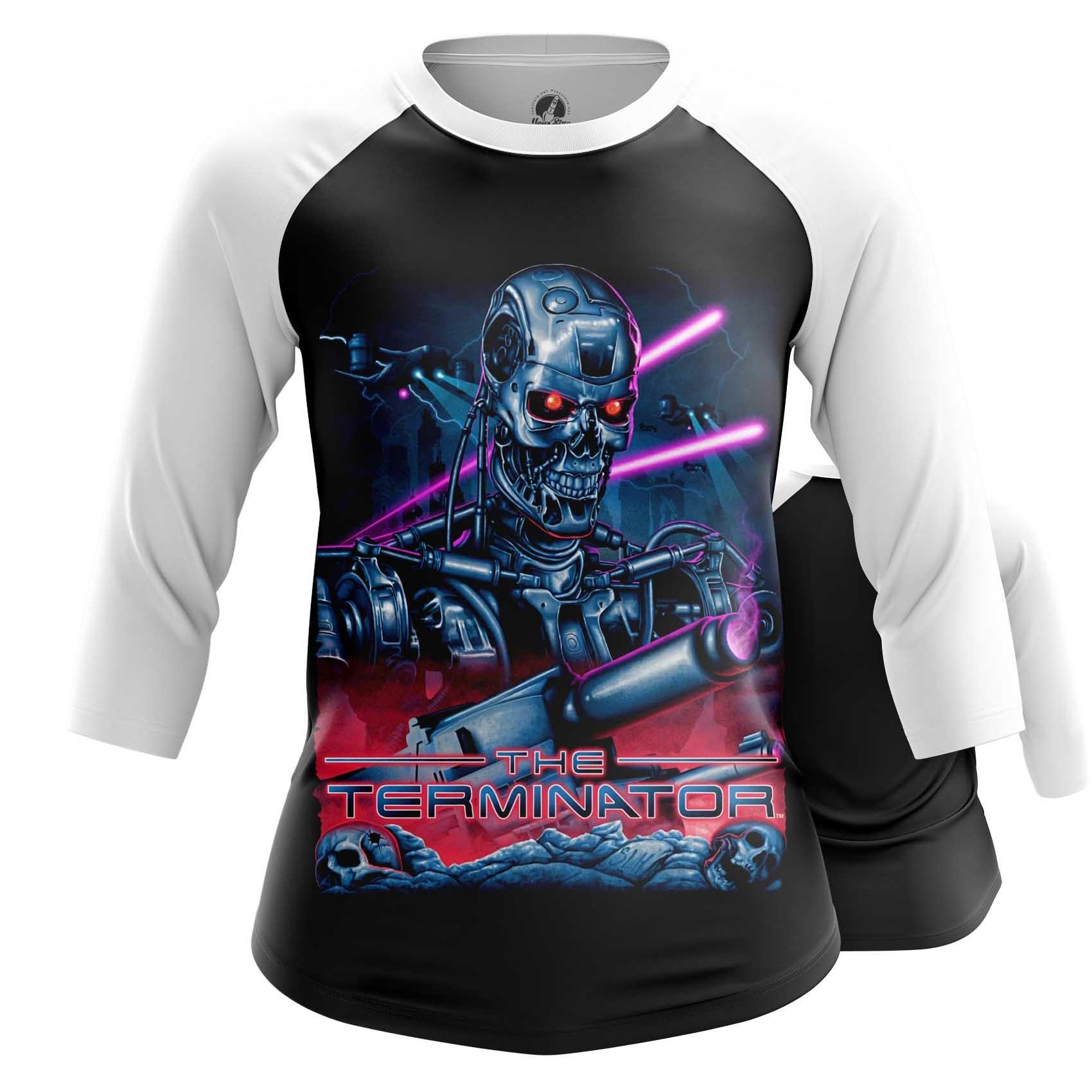 Merchandise Women'S Raglan Terminator New Retrowave