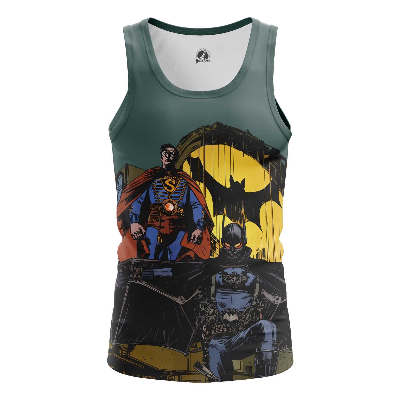 Merch Men'S Long Sleeve Steampunk Batman Superman
