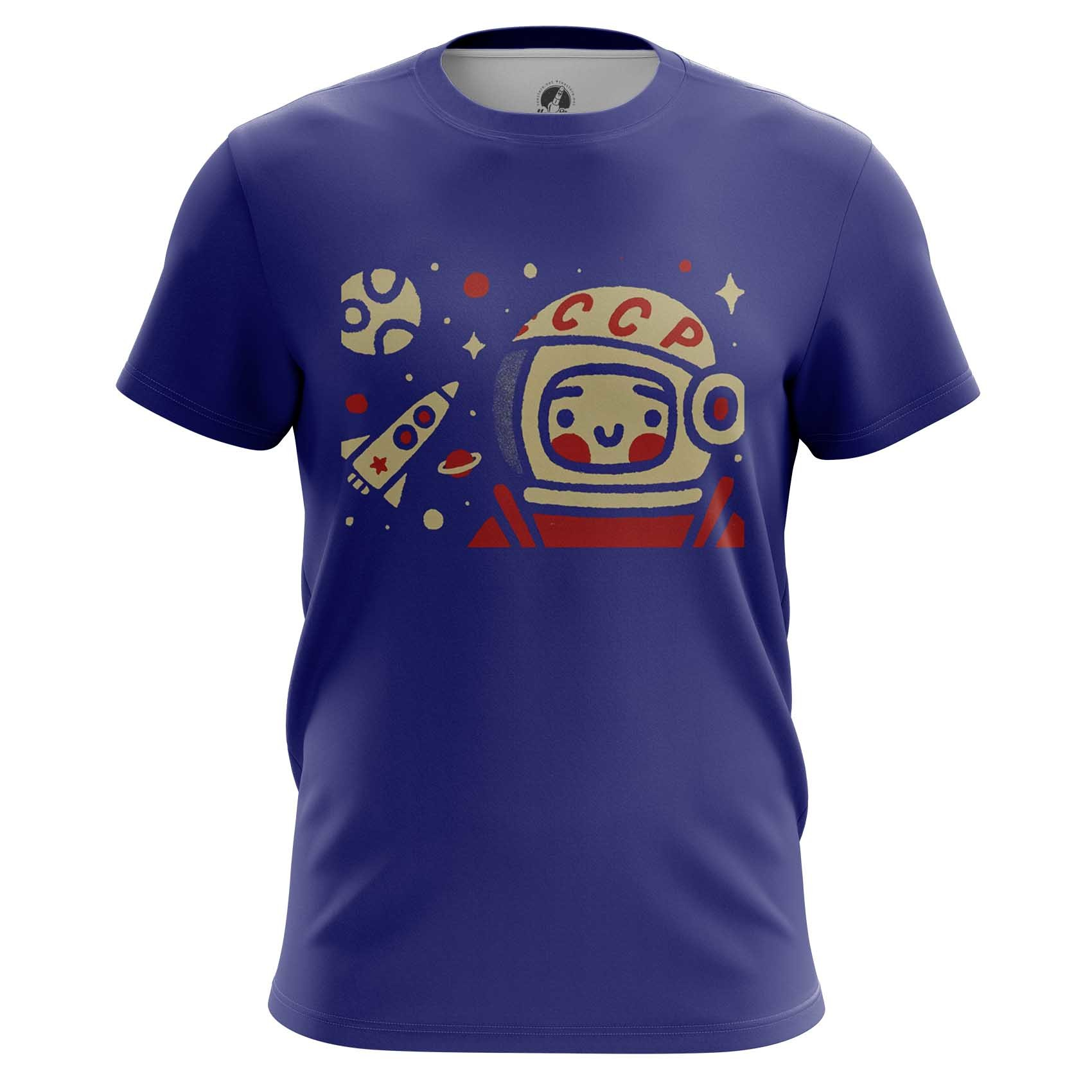 Merchandise Men'S Long Sleeve Yuri Gagarin Space Merch