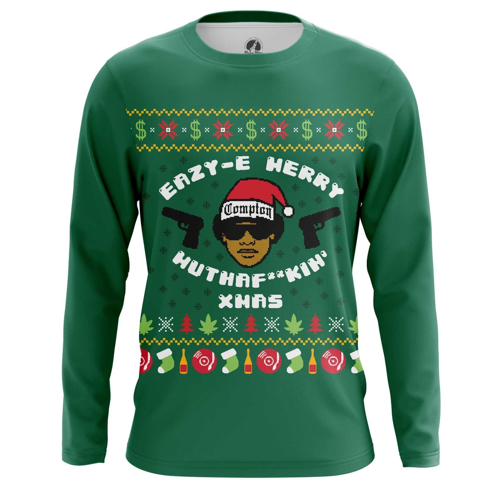 Merch Men'S Raglan Merry Motherfucki' Xmas Eazy-E