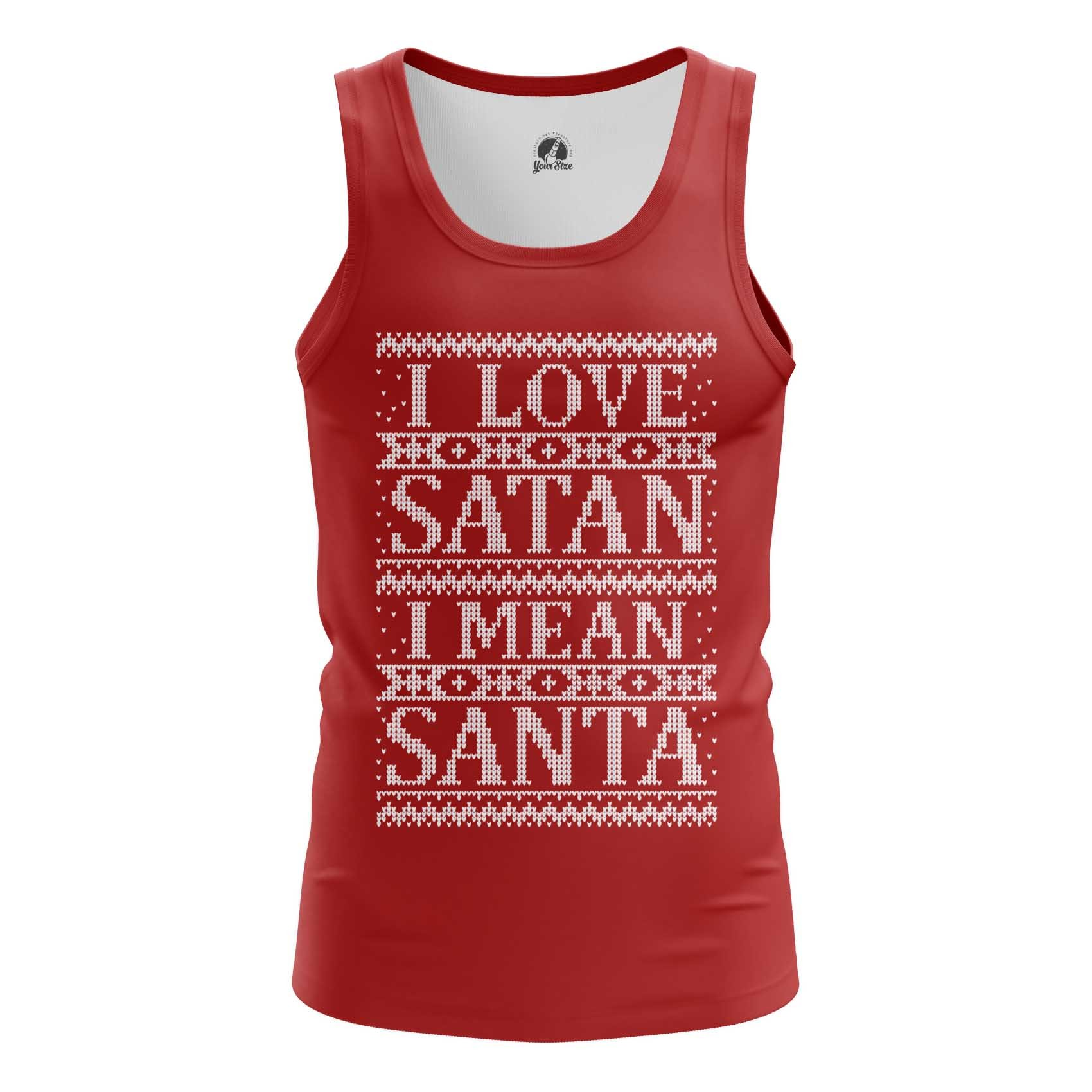 Merch Men'S Raglan I Love Satan I Mean Santa Christmas
