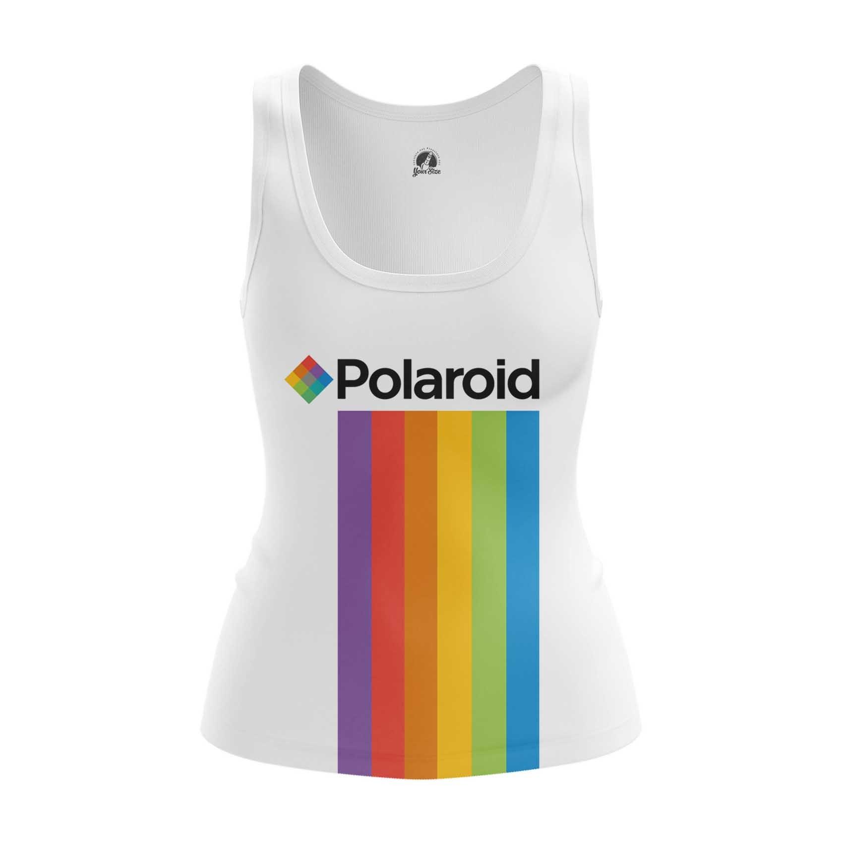 Merch Women'S Long Sleeve Polaroid Rainbow Logo