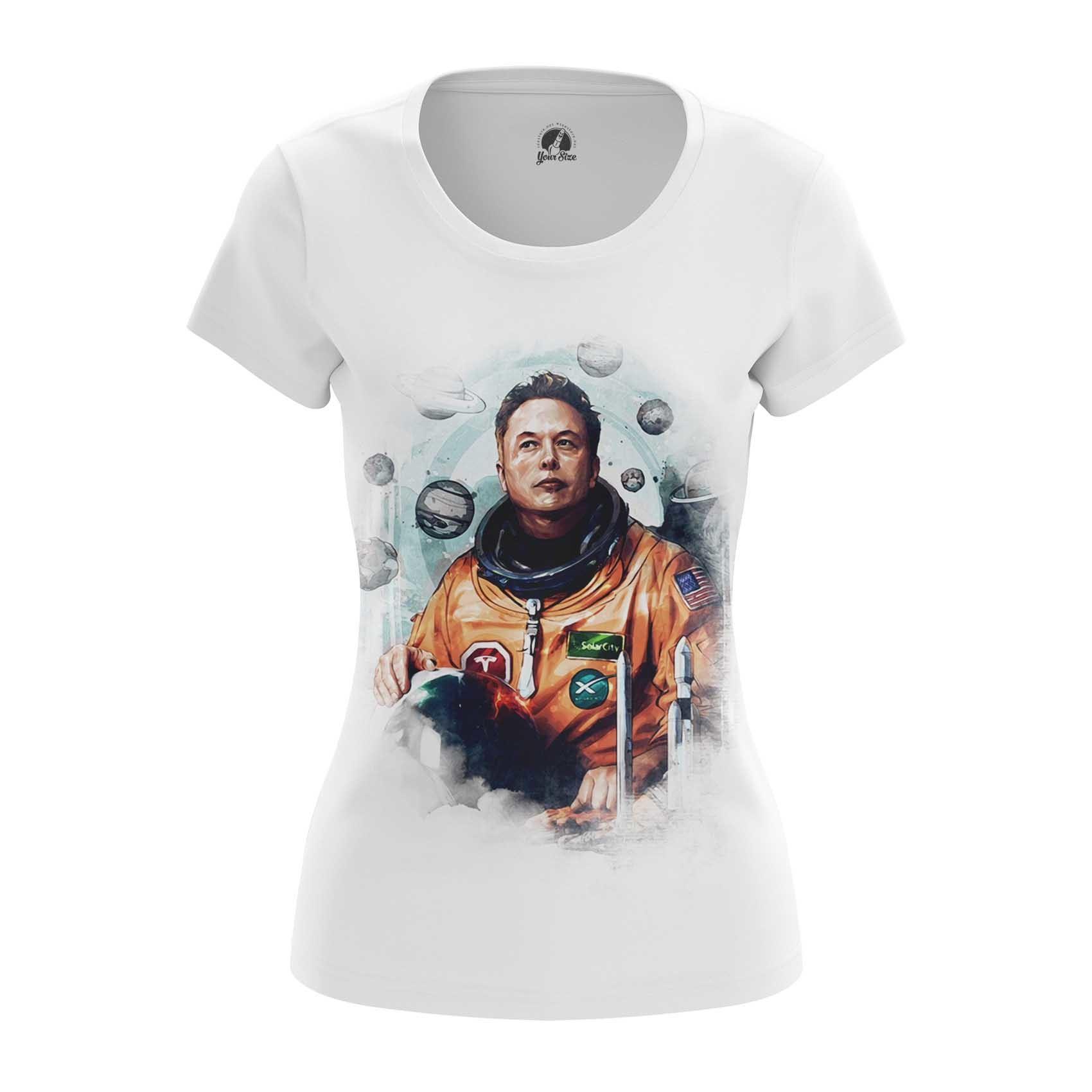 Merchandise Women'S Long Sleeve Astronaut Elon Musk Icon