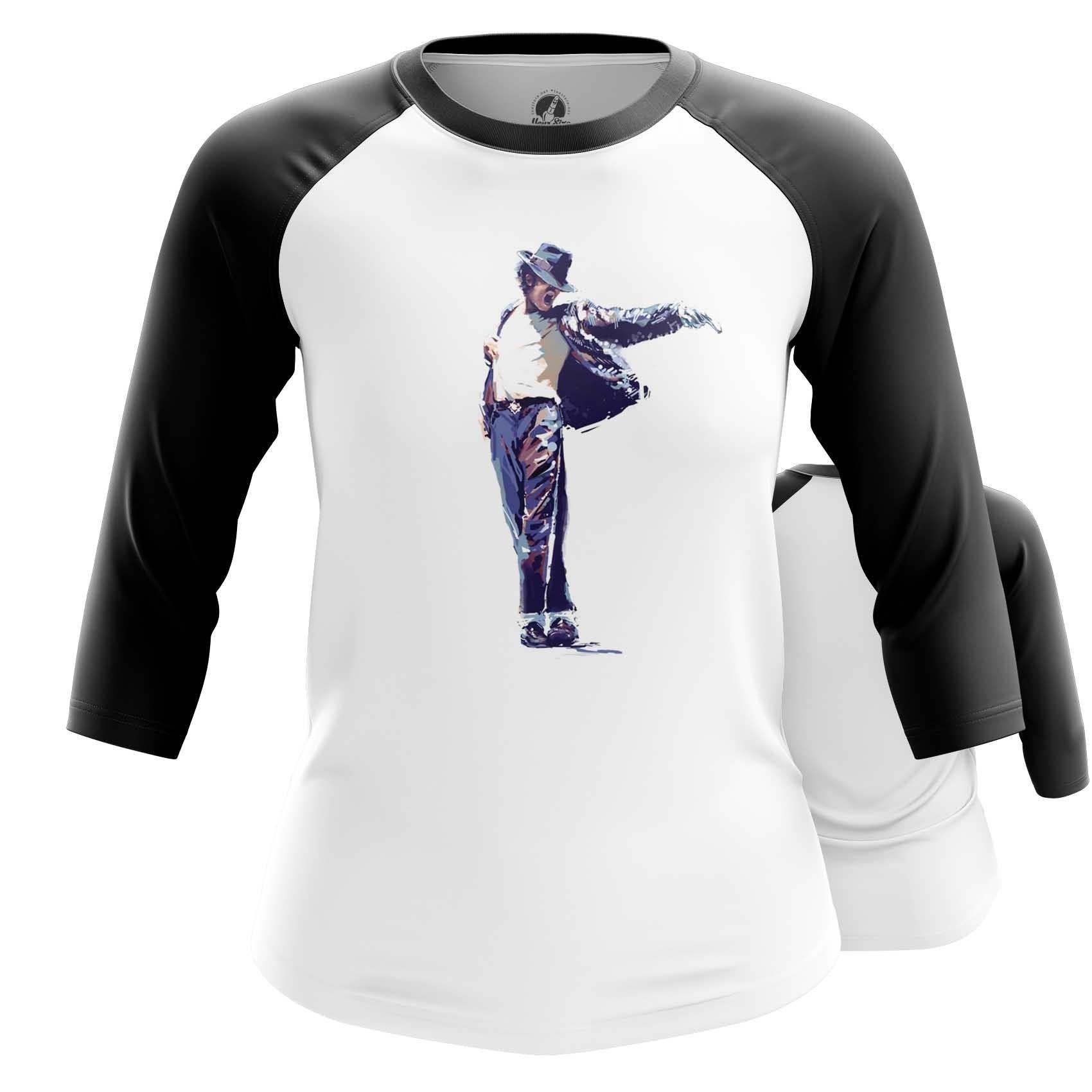 Collectibles Women'S Raglan Michael Jackson Idol Moon Walk