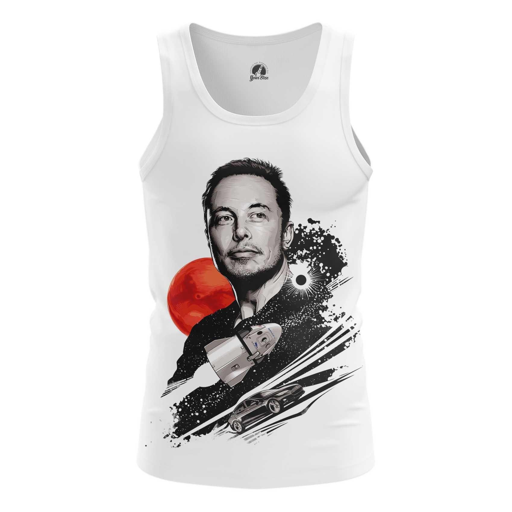 Merchandise Men'S T-Shirt Elon Musk To The Stars Top
