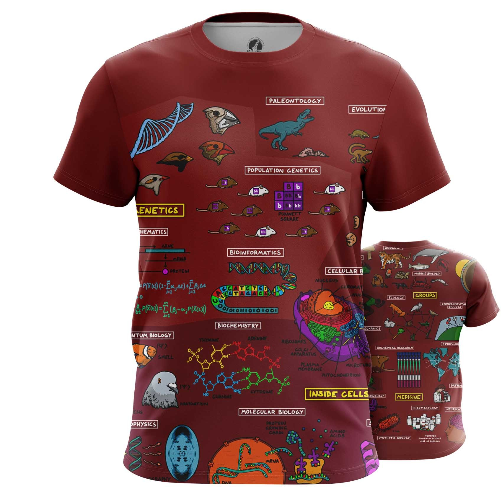 Merchandise Men'S Tank Biology Science Print Vest