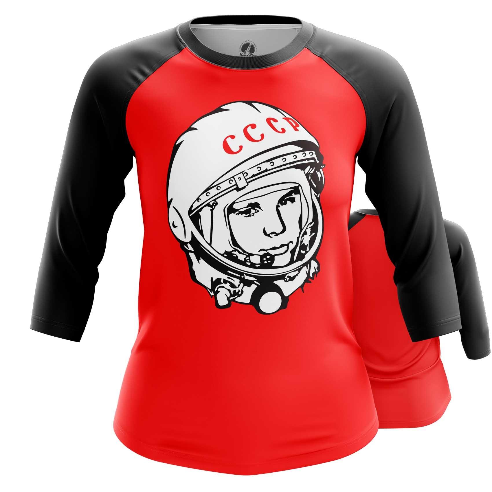 Merch Women'S Raglan Yuri Gagarin Cosmonaut