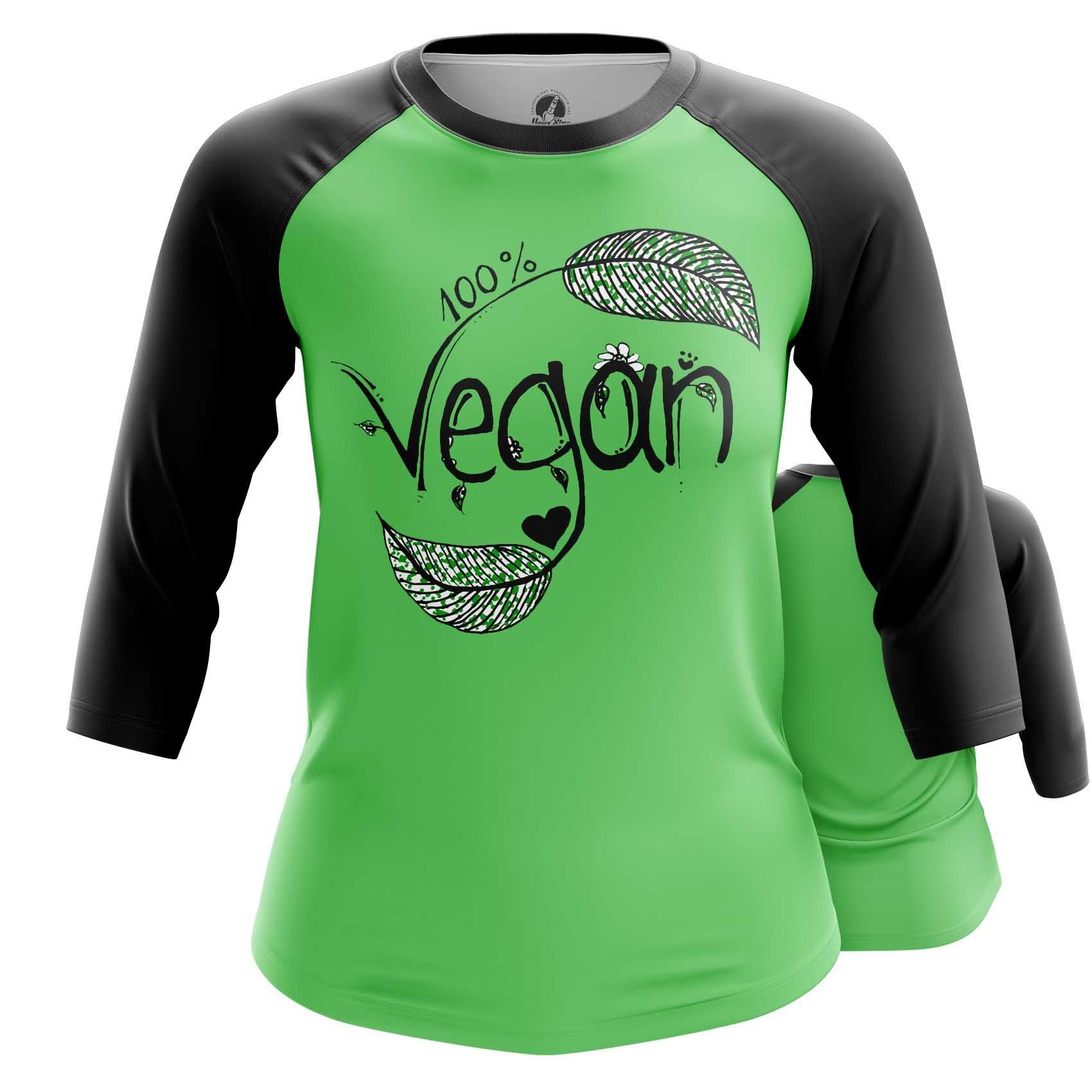 Merch Women'S Long Sleeve Vegan Green