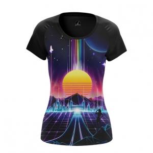 Merch Women'S T-Shirt Sun Retrowave Top