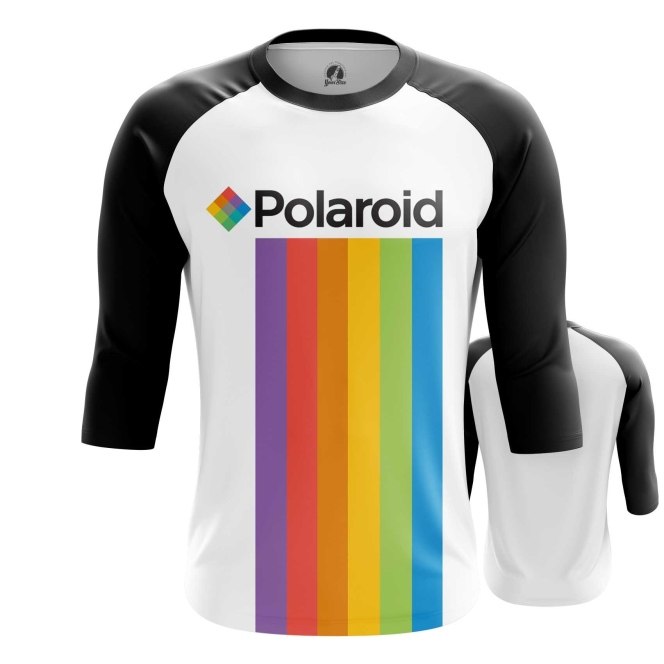 Merchandise Men'S Raglan Polaroid Rainbow Logo