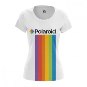 Collectibles Women'S T-Shirt Polaroid Rainbow Logo Top