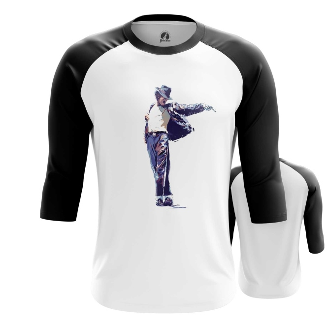 Merchandise Men'S Raglan Michael Jackson Idol Moon Walk