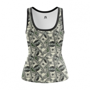 Collectibles Women'S Tank 100 Dollars Money Print Vest