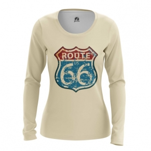 Collectibles Women'S Long Sleeve Route 66 Road Print