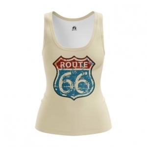 Collectibles Women'S Tank Route 66 Road Print Vest