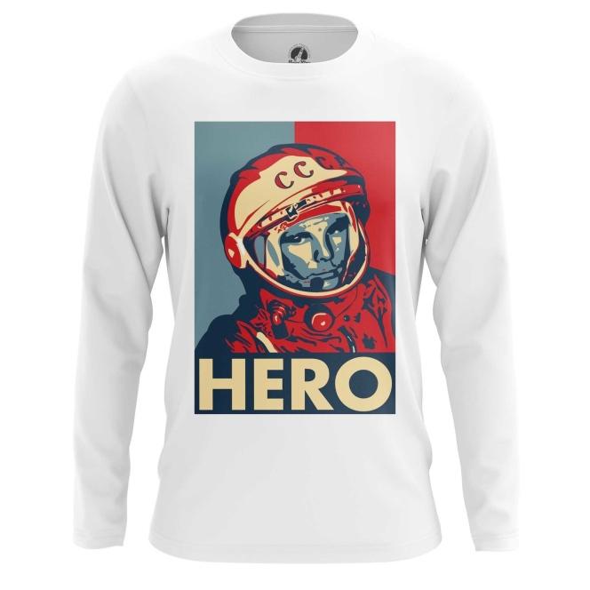 Merch Men'S Long Sleeve Hero Yuri Gagarin The Hero