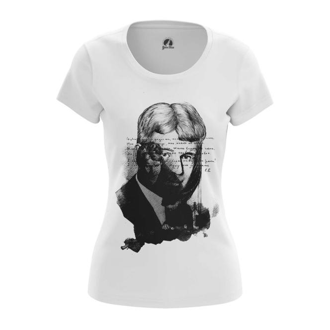 Collectibles Women'S T-Shirt Sergei Yesenin Black White Paint Cloth Top