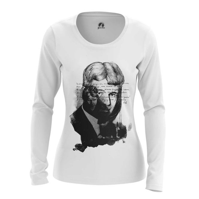 Merchandise Women'S Long Sleeve Sergei Yesenin Black White Paint Cloth