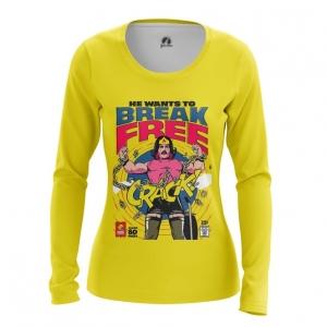 Merchandise Women'S Long Sleeve Break Free Freddie Mercury