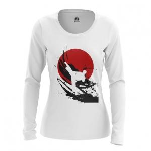 Merchandise Women'S Long Sleeve Karate Symbols Merch