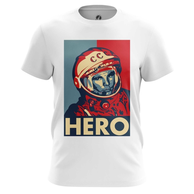 Merch Men'S T-Shirt Hero Yuri Gagarin The Hero Top