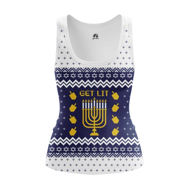 Collectibles Women'S Tank Hanukkah Jewish Festival Christmas Vest