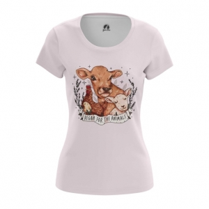 Merch Vegan Women'S T-Shirt Animals Pink Top