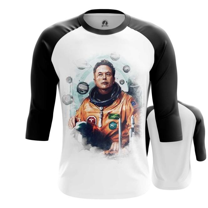 Collectibles Men'S Raglan Astronaut Elon Musk Icon