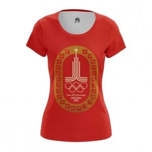 Merch Women'S T-Shirt Olympic Games 1980 Symbols Red Top