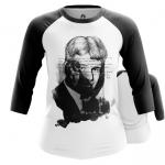 Merch Women'S Raglan Sergei Yesenin Black White Paint Cloth