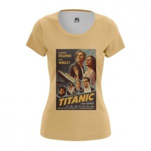 Merch Women'S T-Shirt Titanic Print Cover Poster Top
