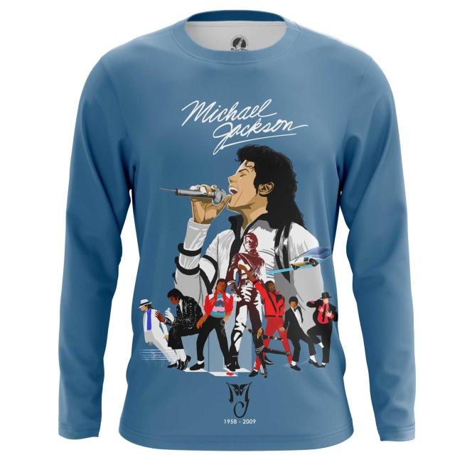 Merchandise Men'S Long Sleeve Michael Jackson Tribute Merch