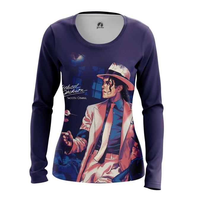 Collectibles Women'S Long Sleeve Smooth Criminal Michael Jackson