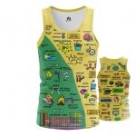 Collectibles Men'S Tank Chemistry Science Print Vest