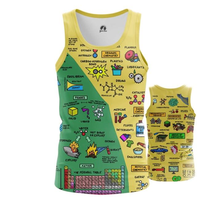 Merch Men'S Tank Chemistry Science Print Vest