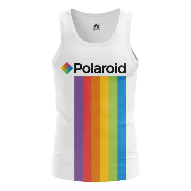 Merch Men'S Tank Polaroid Rainbow Logo Vest