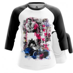 Merchandise - Women Raglan Muhammad Ali Art Merch