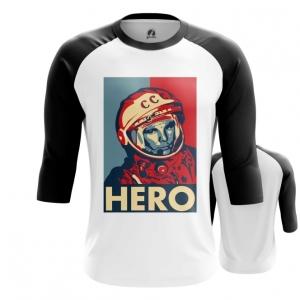 Collectibles Men'S Raglan Hero Yuri Gagarin The Hero