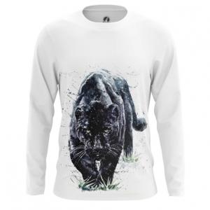 Merchandise Men'S Long Sleeve Black Panther Wild Cat