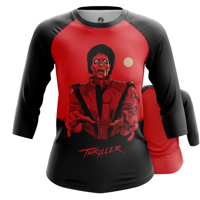 Merchandise Women'S Raglan Thriller Michael Jackson