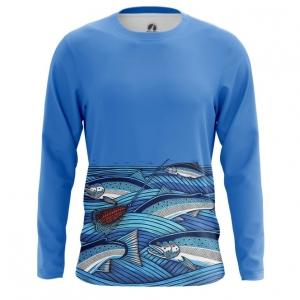 Merch Men'S Long Sleeve Fish Print Fishing