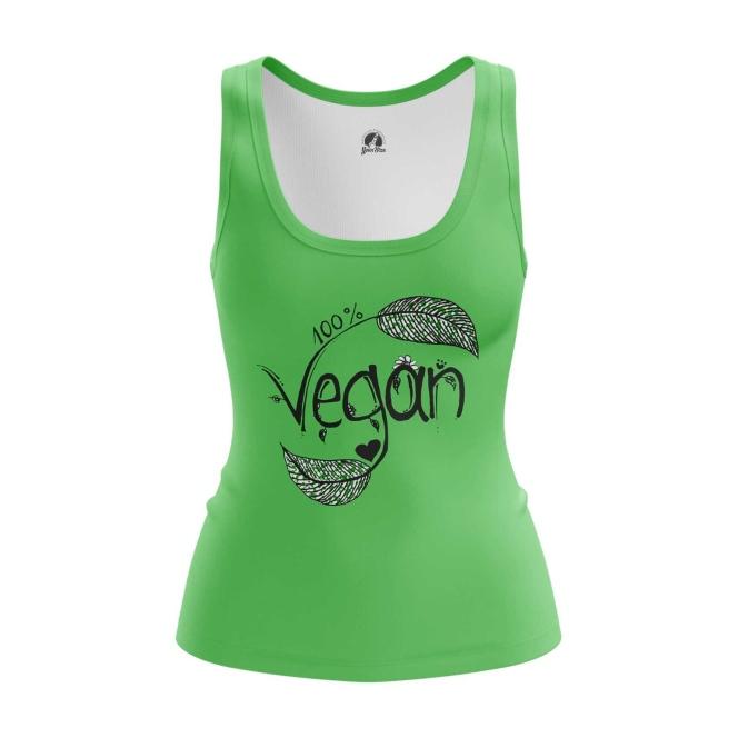 Merchandise Women'S Tank Vegan Green Top Vest