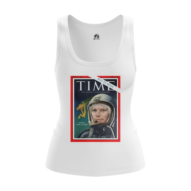 Merch Women'S Tank Magazine Cover Time Yuri Gagarin Vest