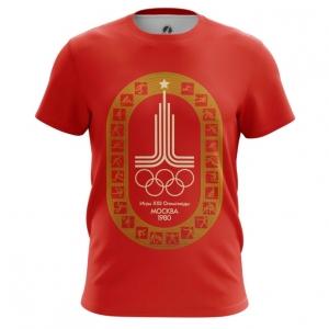 Merch Men'S T-Shirt Olympic Games 1980 Symbols Red Top