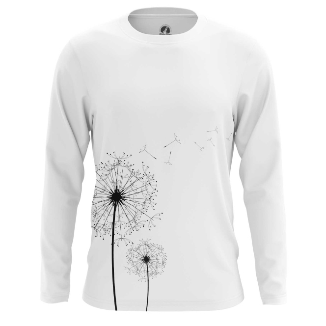 Merchandise Men'S Long Sleeve Dandelion Print Flowers